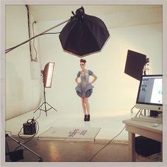 Lights, camera, action! #avantgardedress #liveeco #fashiondesign