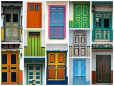 Collage Doors at Salento-COLOMBIA
