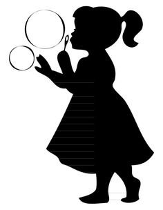 Girl Blowing Bubbles Silhouette [kid853] - $12.00 : iStickerthat ...