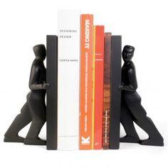 Kikkerland Boekensteunen (set van 2) - Pushing Men