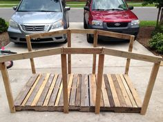 Bridge made from reclaimed pallet wood. Made for VBS 2015, Theme: Journey off the Map.