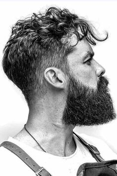 Need some fresh and trendy ideas for curly hairstyles for men? In our photo gallery, you'll find the sexiest and popular haircuts for men with curls of any length, short medium and long as well as any color, blonde, red and black. Be it a curly undercut or bald fade, you'll find a look to your taste. #menshaircuts #menshairstyles #curlyhairmen #menscurlyhairstyles #curlymen #curlyhair Beard Styles For Men, Hair And Beard Styles, Curly Hair Styles, Popular Haircuts, Haircuts For Men, Curly Undercut, Badass Beard, Hipster Beard, Awesome Beards