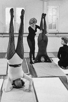 1960s: Women's yoga class (vintage yoga photo) ...... #vintageyoga #yogahistory…