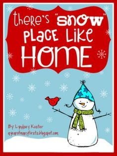 """There's """"Snow"""" Place Like Home {Winter Writing Activities"""