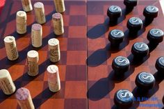 Wine Checkers Game - Zorks vs. Corks. Who would win in your book?