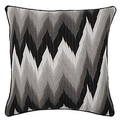 "Z Gallerie - Chevron Pillow 24"" - Black"