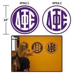 Greek Monogram Wall Sticker! | Greek Dorm | Sorority and Fraternity | Custom | Something Greek | #DeltaPhiEpsilon #DPhiE