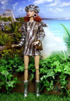 OOAK Barbie Silkstone Integrity FR Mod Vintage TWIGGY JIGGY Clare's Couture #BarbieIntegritySilkstoneClaresCouture