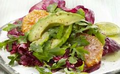 [Pro/Chef] Avocado & Orange, Radicchio & Arugula Salad x Raw Food Recipes, Veggie Recipes, Healthy Recipes, Veggie Food, Salad Bar, Soup And Salad, Arugula Salad, Tasty Bites, Good Food