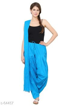 Ethnic Bottomwear - Patiala Pants Trendy Cotton Patiala & Dupatta Set Fabric: Patiala - Cotton Dupatta - Cotton Waist Size: Patiala - Up to 28 in to 40 in (Free Size) Dupatta - 2.25 Mtr Length: Patiala - Up To 41 in Type: Stitched Description: It Has 1 Piece Of Patiala & 1 Piece Of Dupatta Pattern: Solid Country of Origin: India Sizes Available: Free Size   Catalog Rating: ★4 (359)  Catalog Name: Frenzy of Patiala-2 CatalogID_6578 C74-SC1018 Code: 563-64457-9401