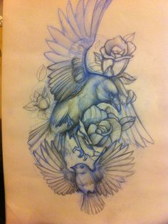 I like flyinf birds like this. It makes me feel free -Mitch Allenden birds tattoo sketch