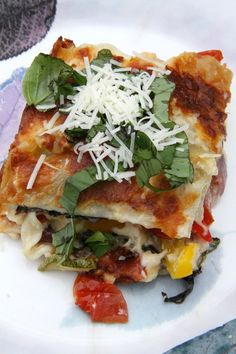 Here's a Recipe to help use all those fresh veggies from your garden: Garden Fresh Vegetarian Lasagna