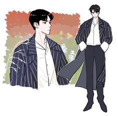 Exo Anime, Anime Manga, Anime Art, Cute Anime Boy, Anime Guys, Character Art, Character Design, Exo Fan Art, Estilo Anime