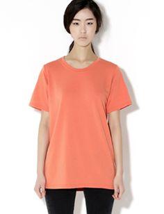 Today's Hot Pick :ベーシックラウンドネック半袖Tシャツ【BLUEPOPS】 http://fashionstylep.com/SFSELFAA0005457/bluepopsjp/out 気軽にデイリー使いできる半袖Tシャツです。 ベーシックなラウンドネックでどんなコーデにもマッチ♪ 一枚で着るのはもちろん、レイヤードコーデにもバッチリの 着回し力満点のマストハブアイテムです。 ベーシックカラーから差し色カラーまでお好みで選べる6カラー展開。 ◆6色: オレンジ/ホワイト/ネイビー/ブラック/チャコール/コバルトブルー