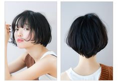 Asian Photography, Photography Women, Korean Short Hair, Short Hair Cuts, Hair Inspo, Hair Inspiration, Shot Hair Styles, Hair Sketch, Asian Hair