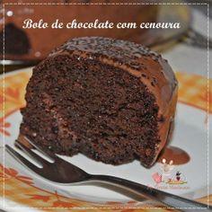 BOLO DE CHOCOLATE COM CENOURA A receita está aqui: http://www.teretetenacozinha.com.br/2014/04/bolo-de-chocolate-com-cenoura_10.html