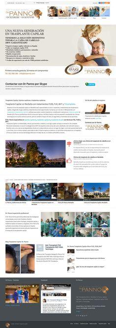 Dr Panno, website design by diseñoideas marbella website designers, for hair transplant specialist DR Panno Marbella