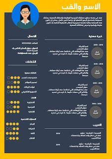 تحميل نموذج سيرة ذاتية عربية لطلب وظيفة نماذج سيرة ذاتية Free Resume Template Word Resume Template Word Cv Template Word