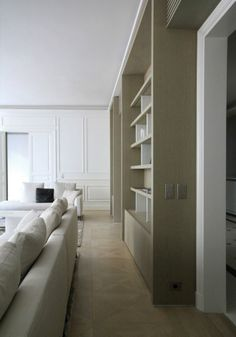 Appartement in Paris France by Lelad Christian Liaigre, Interior Design Images, Built In Furniture, Reception Rooms, Interiores Design, Built Ins, Interior Architecture, Building A House, Family Room