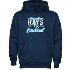 Tampa Bay Rays Youth Script Baseball Pullover Hoodie - Navy Blue - $29.99