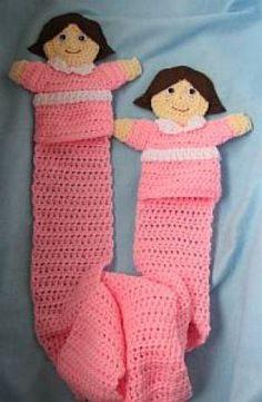#CROCHET Girl puppet scarf
