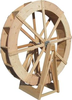 SamsGazebos Japanese Wood Water Wheel, Free-Standing, Treated B – SamsGazebo Craftsman Style Garden Structures Lathe Projects, Wood Projects, Woodworking Projects, Woodworking Furniture, Water Wheel Generator, Pond Water Features, Wooden Wheel, Bird Houses Painted, Water Mill