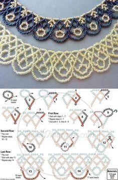 netting schema ~ Seed Bead Tutorials
