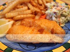 Awesome! This is a great recipe, a total keeper. I used Sarah's Gluten Free Flour blend.  Gluten-free Beer Battered Fish by The Baking Beauties
