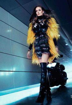 Gorgeous new Fendi fur: nadja bender for vogue china october 2012