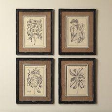 $118 Botanic Wall Art (Set of 4)