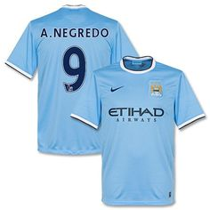 Camiseta del Manchester City 2013-2014 Local + A. Negredo 9