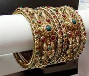 English Carved Gold Bangle Ruby - Google Search