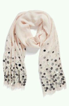 Cream with sequins