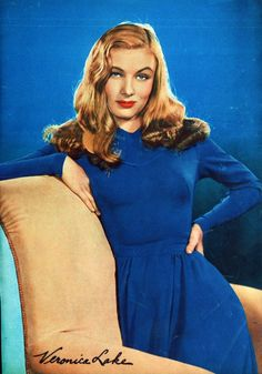Veronica Lake in Movie Star Parade (1943) - I saw her in ONE movie and fell in love with her hair.  I was very young, what can I say?