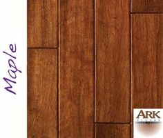 Maple Prefinished Engineered Hand Scraped hardwood floors by ARK Floors.  Finish Shown: BROWN SUGAR  www.shop4floors.com