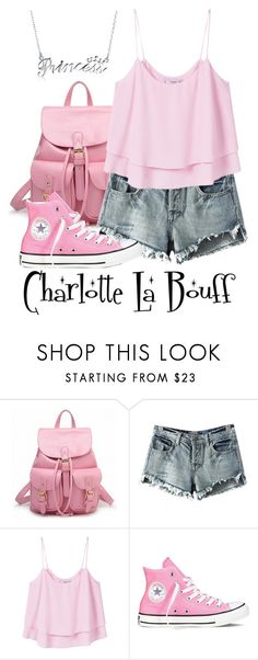 """Charlotte La Bouff"" by waywardfandoms ❤ liked on Polyvore featuring Chicnova Fashion, MANGO, Converse, Bling Jewelry, Summer, disney and disneybound"
