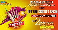 Get Ready To Experience The Cricket Fever!  BizMartech Cricket Championship  #sports #team #fun #activity #friends #cricket #bat #ball #fitness #motivation #game #sportslife #2019 #december #sportsman