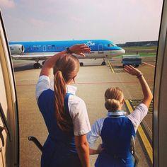 KLM Stewardesses @flightattendant.diaries