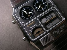 CITIZEN ANA-DIGI TEMP VINTAGE WATCH JG2000-59E
