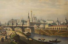 Луи Пьер-Альфонс Бишебуа (1801–1850). Общий вид Кремля. Ок. 1846 г. / Louis Pierre-Alphonse Bishebua (1801-1850). General view of the Kremlin. 1846