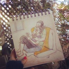 #drawing #sketch #sketchbook #sketchdaily #pencils #color #couple #videogame #comphy #flowers #love #beautiful #dibujo #boceto #cuaderno #lapices #colores #pareja #amor