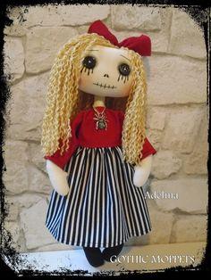Rag Dolls, Fabric Dolls, Fall Crafts, Crafts For Kids, Handmade Dolls Patterns, Zombie Dolls, Monster Dolls, Gothic Dolls, Gothic Art