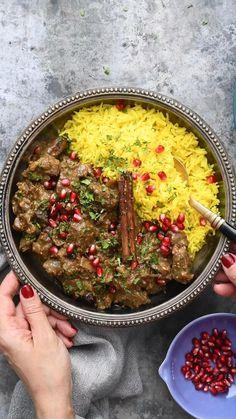 Turkish Recipes, Indian Food Recipes, Persian Food Recipes, Ethnic Recipes, Meat Recipes, Dinner Recipes, Cooking Recipes, Healthy Lamb Recipes, Iranian Cuisine