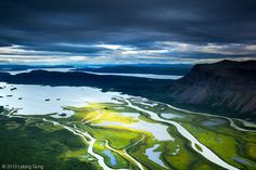 Rapadalen (Rapa Valley) and Lake Laitaure, Sarek National Park, Sweden //On top of mount Skierfe, you have a fantastic view of the Rapa River delta - one of Europe's prettiest. Fine art prints available at www.LebingGong.com