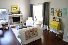I love the bravery of bright yellow in a home