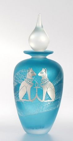 Silver-cameo-Aqua-Egyptian-cat