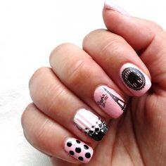 Paris nail stamp manicure