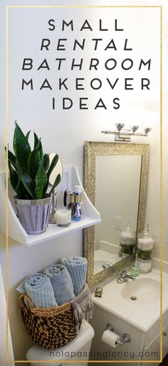 I think the photos will speak for themselves, but I can't help but shout from the rooftops how much I love it now. Small Rental Bathroom Makeover DIY