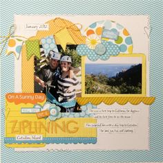 Ziplining by Julie Johnson - Scrapbook.com