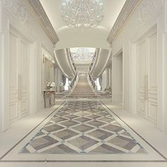 Luxury entrance lobby design - Oman - Muscat  ~ Great pin! For Oahu architectural design visit http://ownerbuiltdesign.com